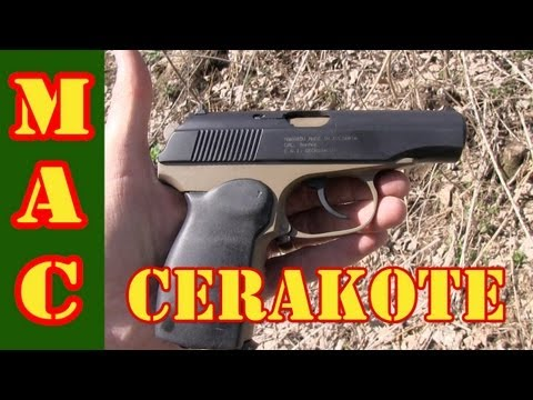 Cerakoted Makarov and Hi-Power