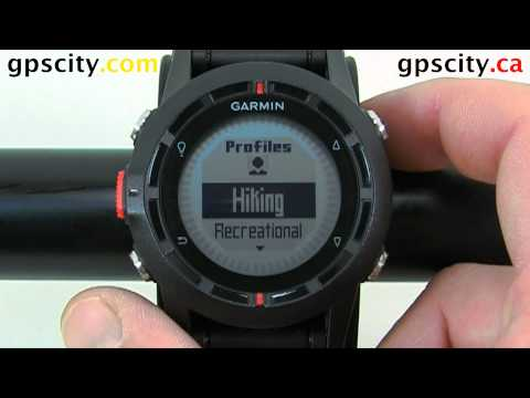 Understanding the Profiles in the Garmin fenix Outdoor Watch with GPS CIty