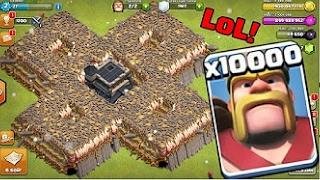 10000 KINGS VS 500 Buildings | OMG | clash of clans