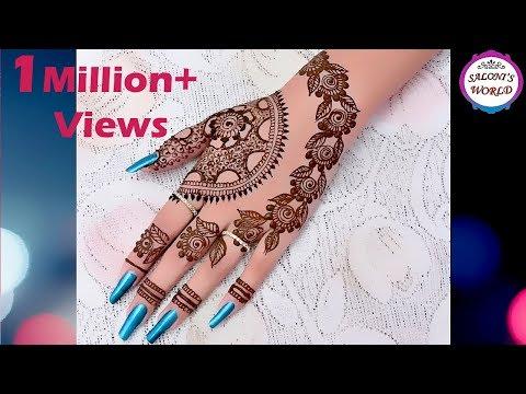 Latest Gulf Style Henna | Arabic Henna | Easy Girlish Henna Tutorial for Hands by Jyoti Sachdeva .