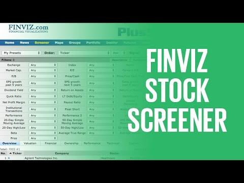 Finviz Stock Screener: How To Screen For Stocks With the Free Screener From Finviz.com
