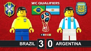 Brazil vs Argentina 3-0 • World Cup Russia 2018 Qualifiers (11/11/2016) Lego Football CBF AFA