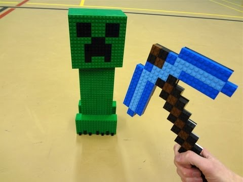LEGO Diamond Pickaxe - Minecraft