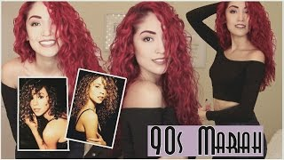 90s Mariah Carey Hair & Makeup | BIG 90s CURLS