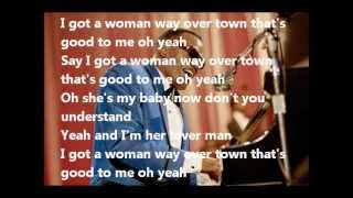 Ray Charles. She knows a woman