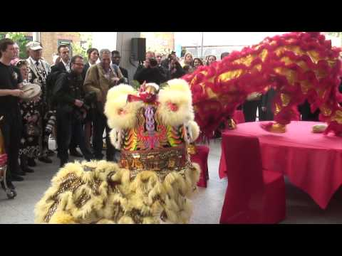 Shangri La Hotel @ The Shard Grand Opening - 100 homing Birds Return to the Nest Lion Dance
