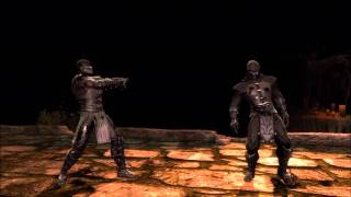 Mortal Kombat 9 Noob Saibot Fatality 1, 2, Stage and Babality (HD)