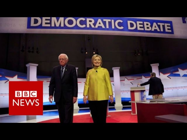 Hillary Clinton and Bernie Sanders clash over Obama  - BBC News