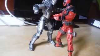 Deadpool vs Maquina de gerra stop motion