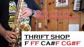 THRIFT SHOP - TUTORIALES PARA EL SAX ALTO - SANTIAGO PACHECO