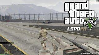 GTA 5 - LSPDFR - EPiSODE 46 - LET'S BE COPS - MILITARY PATROL (GTA 5 PC POLICE MODS) MP'S