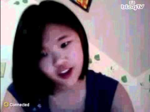 Cute asian girl on webcam