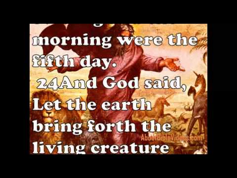 Holy Bible Genesis 1 Video