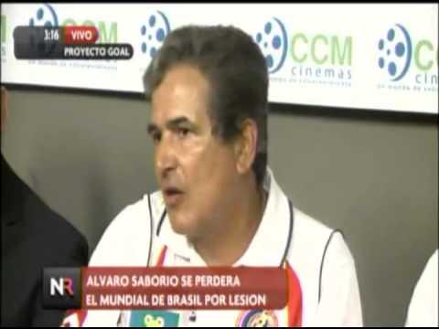 Álvaro Saborío oficialmente fuera del Mundial