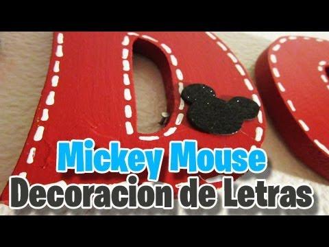 Decoracion de letras mickey mouse decoracion del cuarto - Letras decorativas para habitaciones infantiles ...