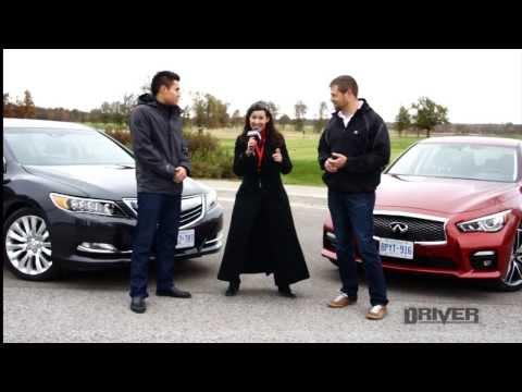 Acura RLX vs. Infiniti Q50 Hybrid   AJAC TestFest Matchup #2: