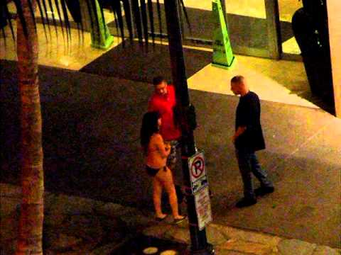 A drunk girl walking waikiki ;p Video