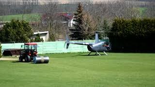 Vrtulník na stadionu v Líšni