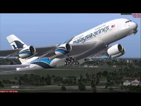FSX | A380 Malaysia Airlines First Landing at Doha International Airport