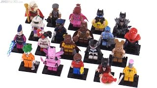 All LEGO Batman Movie series 1 collectible minifigures reviewed!