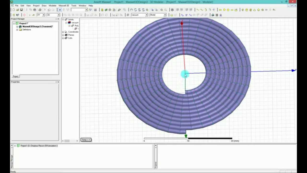 Ansys Maxwell Hfss How To Model Helix Circular Coil For