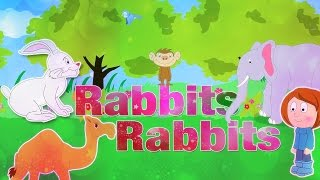 Rabbits Rabbits One Two Three | Nursery Rhymes With Lyrics | English Rhymes For Kids