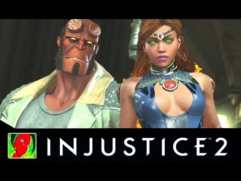 Injustice 2 - Hellboy Vs Teen Titans All Intro Dialogues