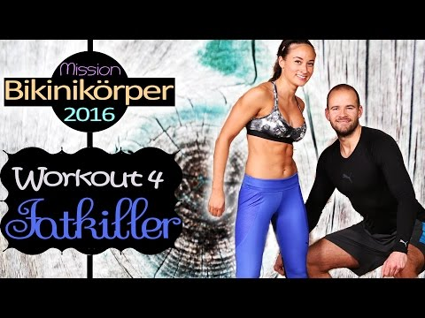 Fatburn Bikini Workout - Bauch Beine Po & Oberkörper HIIT für Zuhause - Für alle zum mitmachen