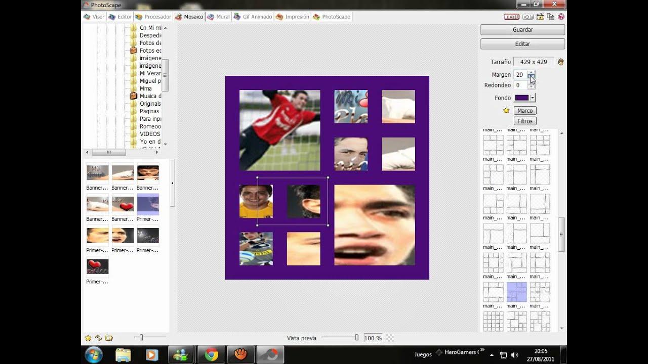 Tutorial de photoscape como poner hartas fotos en cuadros for Cuadros para poner fotos