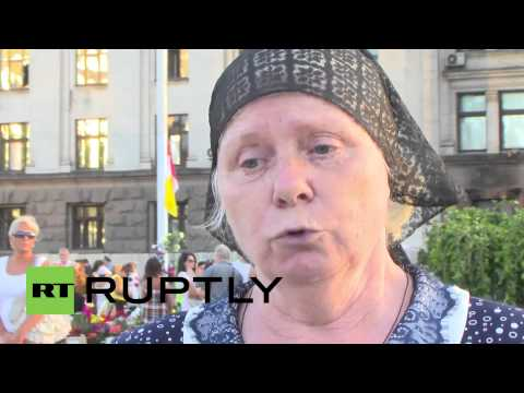 Ukraine: Odessa massacre victim mourned by mother and twin brother