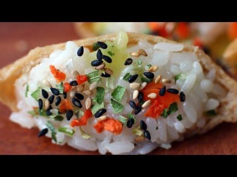 Yubuchobap (Seasoned tofu pockets stuffed with rice)