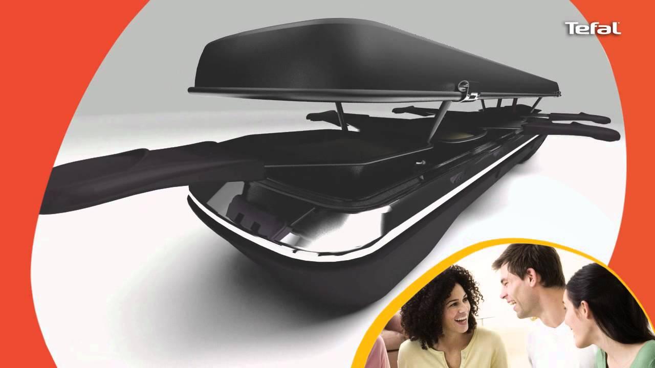 Tefal raclette grill plancha simply line inox design au meilleur prix sur - Raclette tefal simply line ...