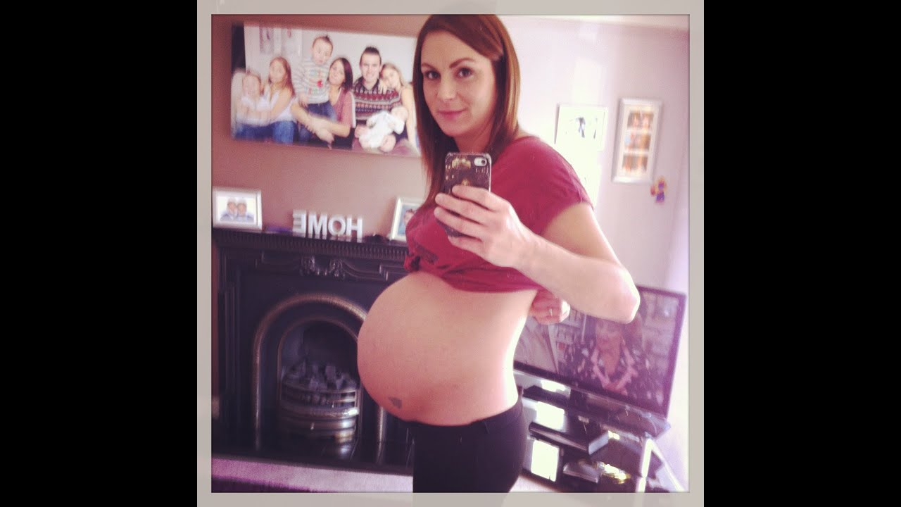 34 Weeks (4 days) Pregnant With Baby #6 & Bump Shot! - YouTube