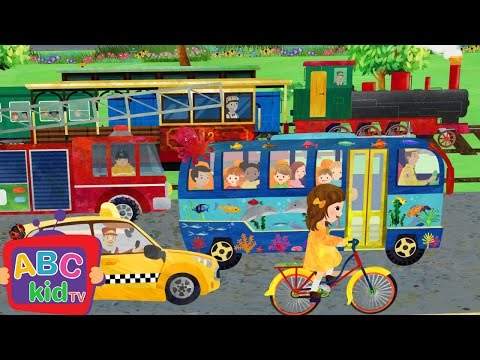 Wheels on the Bus and Vehicles   Nursery Rhymes & Kids Songs - ABCkidTV