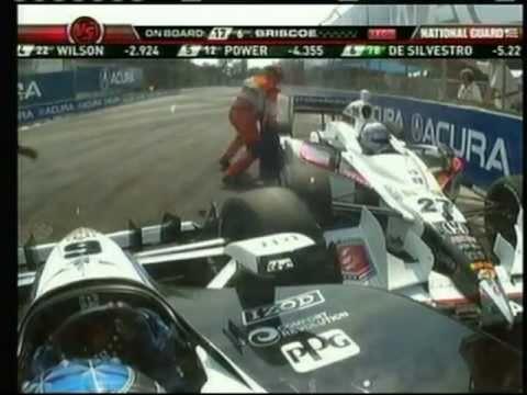 2011 Indycar Toronto - Mike Conway runs into Ryan Briscoe