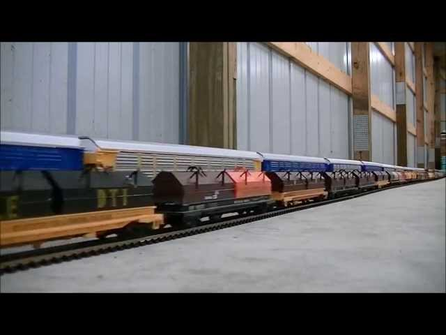 EPIC WORLD RECORD LONGEST MODEL HO SCALE TRAIN  1,662 cars 23 Locomotives