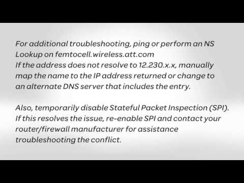 AT&T 3G MicroCell Firewall and Router Settings for Advanced Installations: AT&T How To Video Series