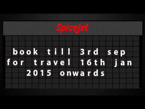 SpiceJet Early Bird Sale!