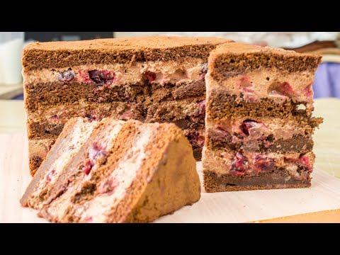 Вкуснейший торт с 🍫шоколадным муссом и 🍒вишней в карамели - Я - ТОРТодел!