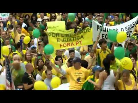 Brazil: One million people march against President Dilma Rousseff over economy and corruption