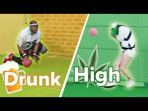 High Vs. Drunk Dodgeball