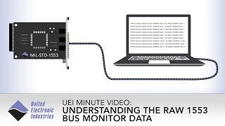 Understanding the Raw 1553 Bus Monitor Data | UEI Minute Video
