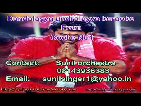 Dandalayya undralayya karaoke -Coolie no.1 karaoke-Telugu karaoke. Photo,Image,Pics