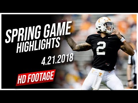 Jarrett Guarantano Tennessee Spring Game Full Highlights || 4.21.2018
