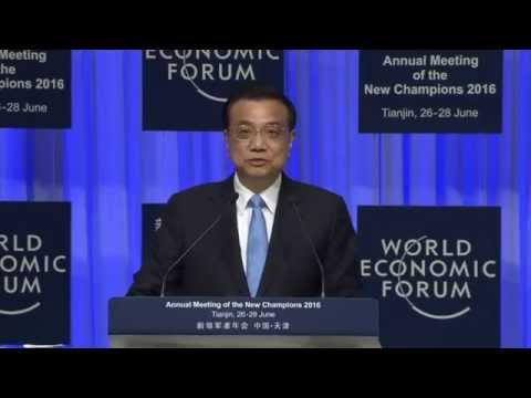 China 2016 - Opening Plenary with Premier Li Keqiang