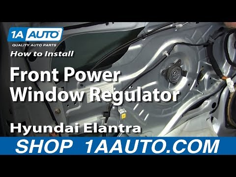 How To Install Replace Front Power Window Regulator 2001-06 Hyundai Elantra