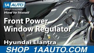 How To Install Replace Front Power Window Regulator 2001-06 Hyundai Elantra