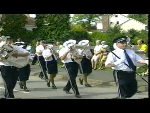 Dungannon Silver Band parading at the Last Saturday in August Royal Black Demonstration in Dungannon on Saturday 29th August 1998 playing The Contemptibles m...