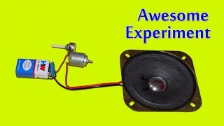 Experiment Motor With Speaker
