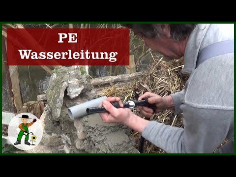 PE Wasserleitung - Gartenteich Und Wasserfall